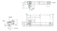 Dimensional Drawing for Top Running Motor Driven End Truck Kits